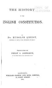 The History of the English Constitution