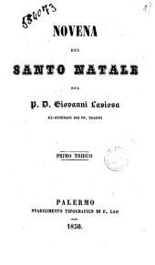 Novena del santo Natale primo triduo del p. D. Giovanni Laviosa