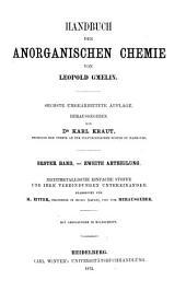 Handbuch der anorganischen Chemie: Band 1,Ausgabe 2