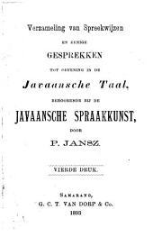 Verzameling van spreekwijzen en eenige gesprekken tot oefening in de Javaansche taal, behoorende bij de Javaansche spraakkunst