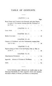 The Municipal Records of the Borough of Shaftesbury: A Contribution to Shastonian History ...