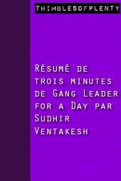 Résumé de 3 minutes du livre choisi par Zuckerberg « Chef de gang pour un jour » par Sudhir Venkatesh