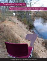 Qualitative Inquiry in Geoscience Education Research PDF