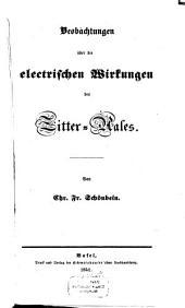 Beobachtungen über die electrischen Wirkungen des Zitter-Aales