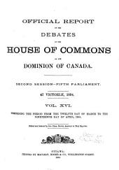 Official Report of Debates, House of Commons: Volume 16