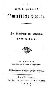Sämmtliche werke: zur philosophie und geschichte, Band 2