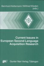Current Issues in European Second Language Acquisition Research PDF