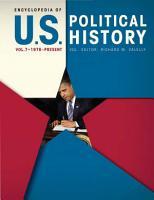 Encyclopedia of U S  Political History PDF