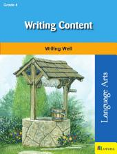 Writing Content: Writing Well in Grade 4