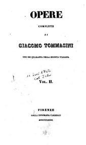 Opere complete di Giacomo Tommasini: 2