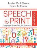 Speech to Print Workbook Book