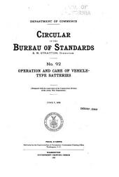 Circular of the Bureau of Standards: Issue 92