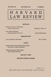 Harvard Law Review: Volume 130, Number 2 - December 2016