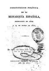 Constitución política de la Monarquía española: promulgada en Cadiz a 19 de Marzo de 1812