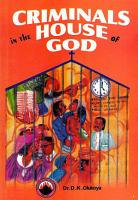 Criminals in the House of God PDF
