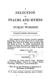 A selection of Psalms and hymns for public worship. Twenty-fifth thousand. [The dedication signed: Samuel Wilberforce.]
