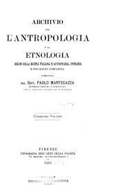 Archivio per l'antropologia e la etnologia: Volumi 11-12