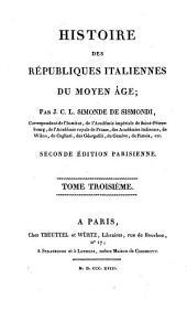 Histoire des républiques italiennes du Moyen Âge: Volume8