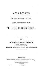 Analysis of the Words in the First Chapter of the Telugu Reader