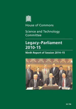 HC 758   Legacy Parliament 2010 15
