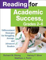 Reading for Academic Success  Grades 2 6 PDF