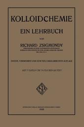 Kolloidchemie: Ein Lehrbuch, Ausgabe 2