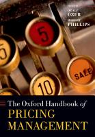 The Oxford Handbook of Pricing Management PDF