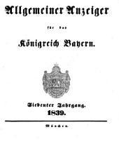Allgemeiner Anzeiger für das Königreich Bayern: Gerichtliche und polizeyliche Bekanntmachungen, Band 7