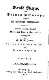 David Rizzio oder Scenen in Europa während des sechzehnten Jahrhunderts: Aus dem schriftlichen Nachlasse William Henry Ireland's herausgegeben von G. P. R. James. Aus dem Englischen übersetzt von Ernst Susemihl, Band 3