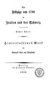 Die Feldzüge von 1799 in Italien und der Schweiz: Band 1