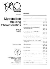1980 census of housing: Metropolitan housing characteristics. Utah