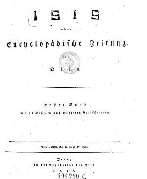 Isis oder Encyclop  dische Zeitung PDF
