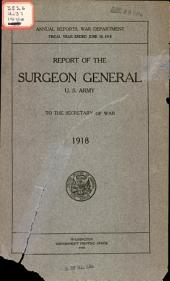 Annual report of the Surgeon-General, U.S. Army