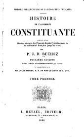 Histoire parlementaire de la révolution françaises: Volume1