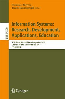 Information Systems  Research  Development  Applications  Education Book