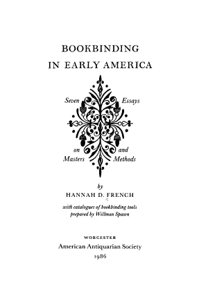 Bookbinding in Early America