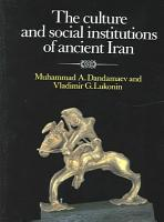 The Culture and Social Institutions of Ancient Iran PDF