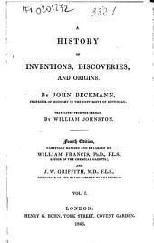 A History of Inventions, Discoveries, and Origins