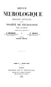 Revue neurologique: Volume10