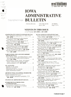 Iowa Administrative Bulletin PDF