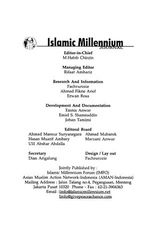 Islamic Millenium Journal