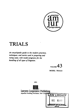 American Jurisprudence Trials