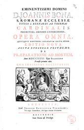 Eminentissimi Domini D. Joannis Bona ... Opera Omnia, Quotquot Hactenus Separatim Edita Fuere: cum indicibus necessariis
