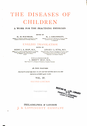 The Diseases of children: a work for the practising physician, Volume 4