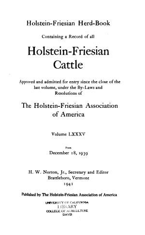 Holstein-Friesian Herd Book