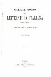 Giornale storico della letteratura italiana: Volume 52