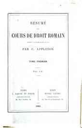 Résumé du cours de droit romain ...
