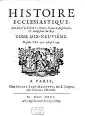 Histoire Ecclesiastique: Depuis l'An 1300. jusqu'à 1339, Volume19