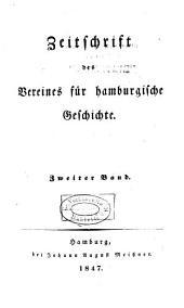 Zeitschrift des Vereins für hamburgische Geschichte: Band 2