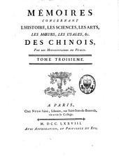 Mémoires concernant les Chinois: Volume3